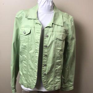 AMI Light Green Denim Jean Jacket XL